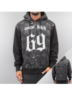 Dangerous DNGRS Hoody amen bitch 69 zwart