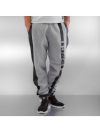 Dangerous DNGRS joggingbroek PU Outlines grijs