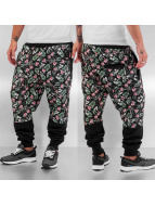 Dangerous DNGRS Jogginghose Flowers And Guns schwarz