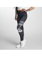 Dangerous DNGRS Leggings/Treggings Skull czarny
