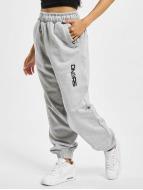 Dangerous DNGRS Pantalone ginnico Soft Dream Leila Ladys Logo grigio