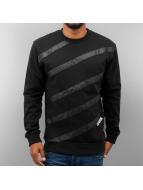 Dangerous DNGRS Pullover PU Stripes noir