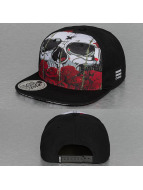 Dangerous DNGRS Snapback Cap Skull & Rose black