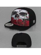 Dangerous DNGRS Snapback Caps Skull & Rose musta
