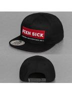 Dangerous DNGRS Snapback Caps FCKN SICK musta