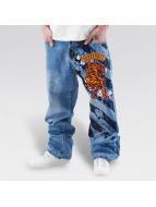 Dangerous DNGRS Spodnie Baggy Tiger niebieski