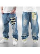 Dangerous DNGRS Spodnie Baggy Hemp II niebieski