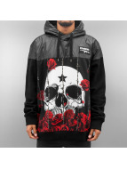 Dangerous DNGRS Sweat capuche Skull Rose noir