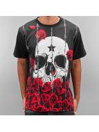 Dangerous DNGRS T-Shirt Skull & Rose noir