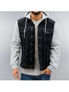 Dangerous DNGRS Übergangsjacke Denim Sweat schwarz