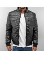 Dangerous DNGRS Winterjacke PU Leather schwarz