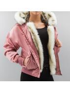 DEF Куртка-бомбардир Fake Fur розовый