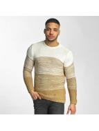 DEF Пуловер Striped бежевый