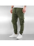 DEF Спортивные брюки Cargo оливковый