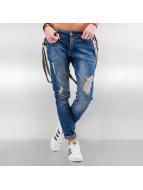 DEF Boyfriend Jeans Suspenders blå
