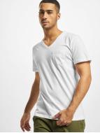 DEF Camiseta V-Neck blanco