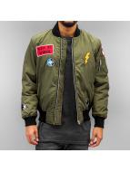 DEF Peace Bomber Jacket Olive