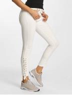 DEF Jean skinny Strap blanc