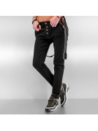 DEF Jeans boyfriend Suspenders II nero