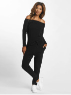 DEF jumpsuit Stretch zwart