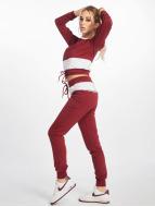 DEF Mjukiskläder Sweat Suit röd