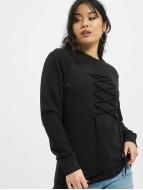DEF Pullover lace noir