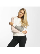 DEF Pullover Colorblocking weiß
