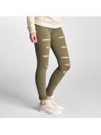 DEF Skinny Jeans Cut oliwkowy