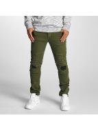 DEF Straight fit jeans Elom olijfgroen