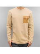 Strapes Sweatshirt Beige...