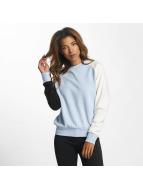 DEF Swetry Colorblocking niebieski