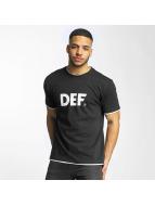 DEF T-Shirt Logo schwarz