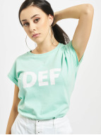 DEF T-shirt Sizza turchese