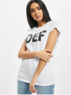 DEF T-Shirty Sizza bialy