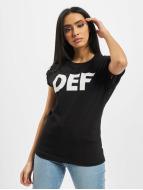 DEF T-skjorter Sizza svart