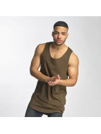 DEF Tank Tops Long Basic marrone