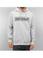 DefShop Sweat à capuche Logo gris