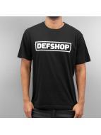 DefShop T-Shirt Logo schwarz