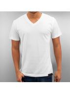 DefShop T-Shirt Basic V-Neck weiß