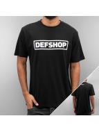DefShop t-shirt  zwart