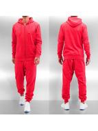 Basic Sweat Suit Red Mel...