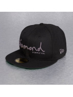 Diamond Fitted Cap OG Script New Era schwarz