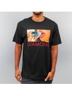 Diamond T-Shirt Diamond Lips noir