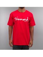 Diamond t-shirt Tonal OG Script rood