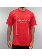 Diamond T-Shirty Boxed In czerwony