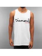 Diamond Tank Tops OG Script bianco