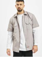 Dickies Chemise Shorts Sleeve Work gris