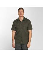 Dickies Chemise Shorts Sleeve Work olive