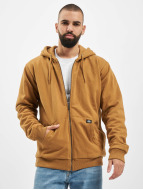 Dickies Hoodies con zip Kingsley marrone