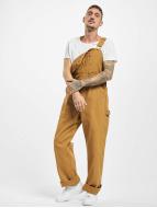 Dickies Loose Fit Jeans Bib Overall Rinsed brun